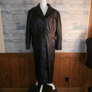 Pelle Studio Thinsulate Lined Black Leather Coat